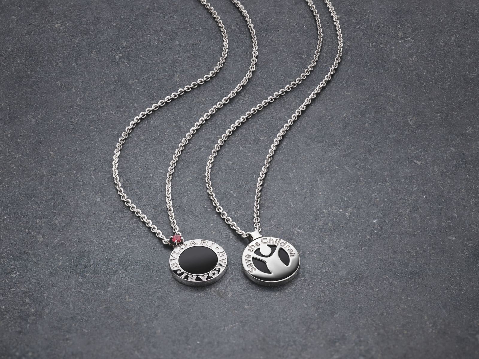Bvlgari create a silver pendant to support Save The Children