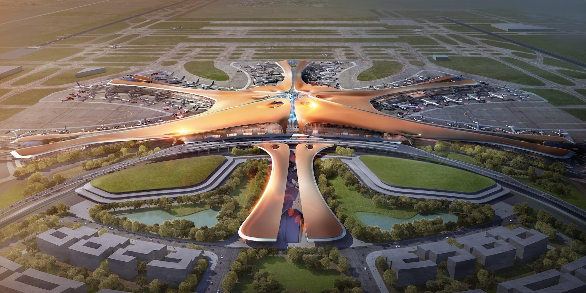 В Китае по проекту Захи Хадид построили самый большой аэропорт в мире