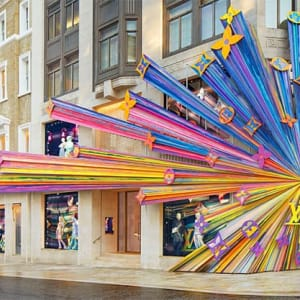 Новый дизайнерский бутик Louis Vuitton в Лондоне