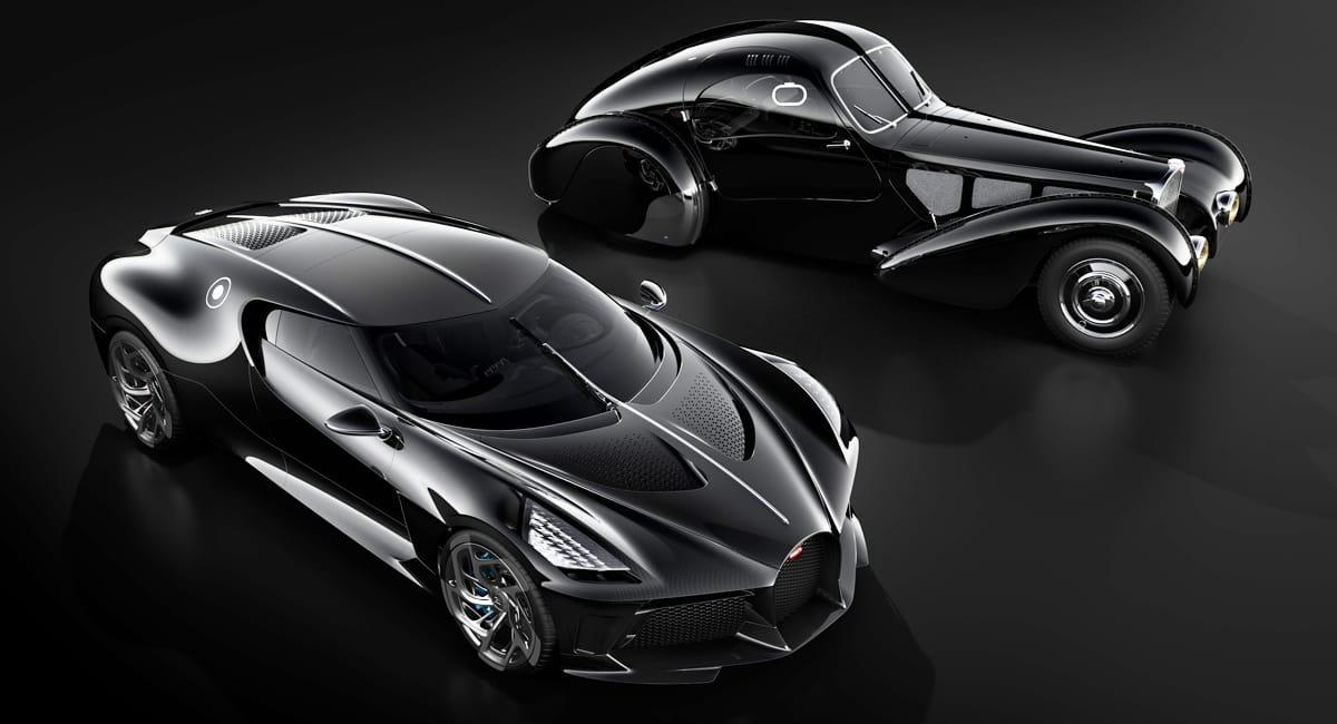 Bugatti La Voiture Noir и прототип Type 57SC Atlantic