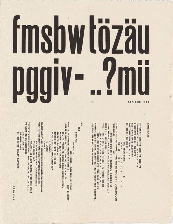 Рауль Хаусман. Листы из Livre d_artiste. Поэзия неведомых слов, 1949