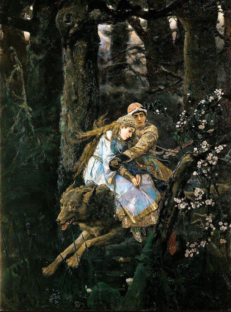 Виктор Васнецов. Иван-царевич на Сером Волке, 1889