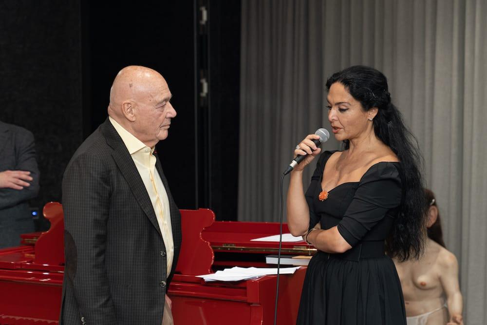 Миранда Мирианашвили с Владимиром Познером