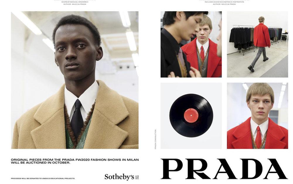 Prada проведет благотворительный аукцион совместно с Sotheby's
