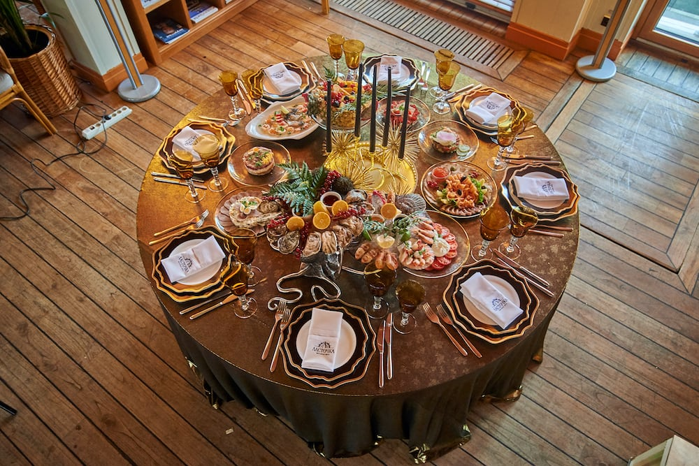 Блюда Yacht Event организация нг стола под ключ