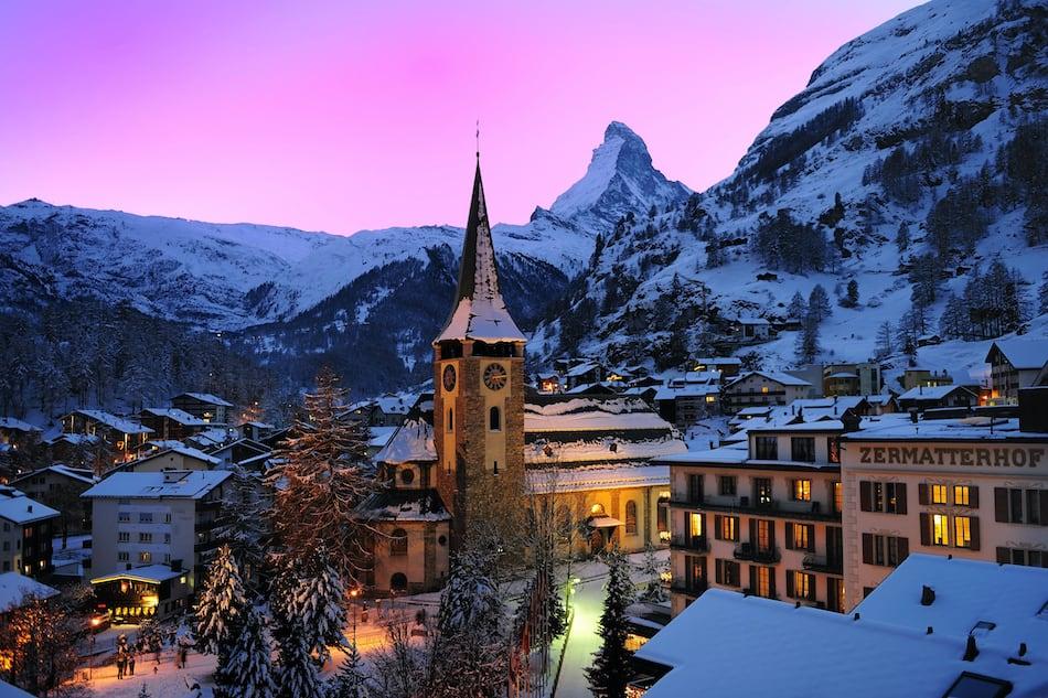 Лучшие отели Швейцарии для зимнего отдыха